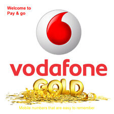 Vodafone Gold VIP PAYG SIM Card Easy Memorable Pay As You Go Mobile Number