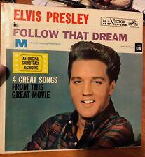 "ELVIS PRESLEY ~ ""FOLLOW THAT DREAM"" ~ EPA-4368 ~ ORANGE LABEL ~ NM ~ MEGA RARE"