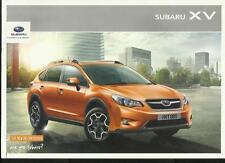 Subaru XV CROSSOVER COCHE FOLLETO de ventas año modelo 2012