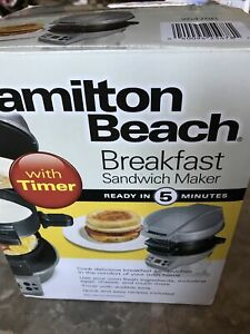 Hamilton Beach Breakfast Sandwich Maker 25475  Free Shipping New Open Box, Not U