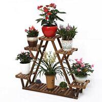 3 Tier Wood Plant Stand Flower Pot Display Rack Stand Holder Shelf Step Ladder
