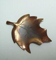 Vintage NYE COPPER Maple Leaf Pin