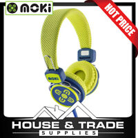 Moki Headphones Kid Safe 89dB Volume Limited YELLOW/BLUE ACC-HPKSYB