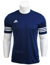 Entrada 14 adidas Training Shirt Men Climalite Short Sleeves L Large Navy - F50487