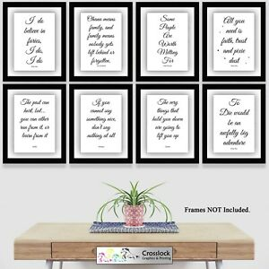 Disney Prints Film Quotes Typography Photo Poster Picture Print wall art A4