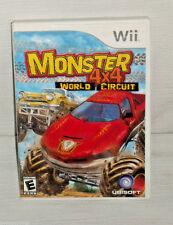 Wii Monster 4x4 World Circuit Game Manual Case Nintendo