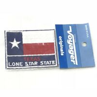 Vintage Voyager Texas State Flag Souvenir Patch In Original Packaging