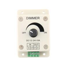 DC 12V 8A LED Light Protect Strip Dimmer Adjustable Brightness Controller EO