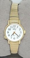 Ladies Timex Indiglo Stainless Steel Gold Tone Easy Reader Analog Watch C5
