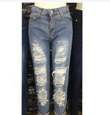 BOYFRIEND TATTERED JEANS SIZE 32