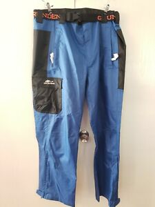 NEW Grundens WEATHER WATCH FISHING PANTS Size XXL 2XL Large Blue Black rain gear