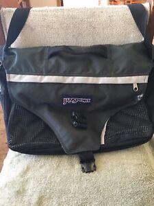 Jansport Black Messenger Bag Laptop Bag School Bag
