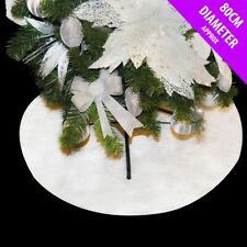 Glitter Snow Blanket Christmas Tree Skirt 80cm Base Cover Xmas Decoration 55327