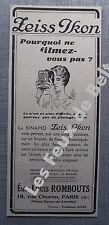 Publicité KINAMO ZEISS IKON     1932