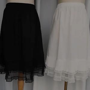 Damen Unterrock Spitze Saum Halb Taille Slip Rock Kleid Verlängerung Sommer