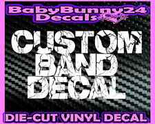 CUSTOM Band DECAL Car Truck Laptop Metal Thrash Death Rock Music Tour LOGO