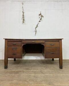 Antique Oak Partners Desk C.1930