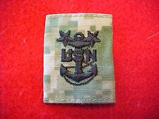 US Navy Type III Type 3 Green Digital  E-9 rank tab for blouse & parka