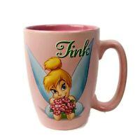Vintage Tinkerbell Walt Disney Store Large Coffee Mug Cup Pink Tink Pixie 18 oz