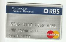 Royal Bank of Scotland MasterCards . 3/11 Expiration. Slight Use.