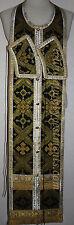 "Communion Priest Set Stole Cuff  Russian Orthodox  BLACK GOLD  46"" 117cm"