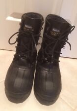 Servus  Steel Toe -50F Insulated Mens Black Work Safety Boots Size 9 EUC