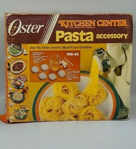 PASTA Accessory for Oster Kitchen Center 939-65 w/ directions & Box   Nice