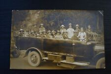 More details for postcard charabanc visiting gough's cave cheddar somerset unposted photo rp ref2