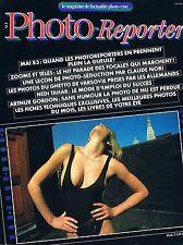 Photo Reporter  N°56  juin 1983:Claude nori Hedi tahar Arthur gordon