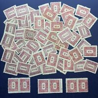 HUGE LOT OF 1945-1947 CHINA POSTAGE DUE STAMPS INCLUDING MULTIPLE PAIRS