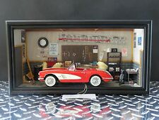 Franklin Mint 1958 Chevy Corvette Garage Diorama 1:24 Scale Diecast Model Car