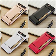 CLIP Case iPhone 4 5 6 S 7 8 Plus Credit Card Storage Wallet Apple Slot + GLASS