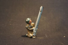 Old Vtg Lead Toy Soldier With Green Helmet Kneeling And Aiming Gun Military