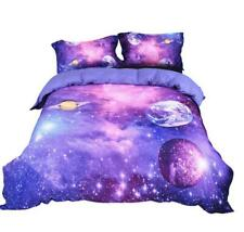 4 Sizes 3pcs Zipper Galaxy Comforter Set Quilt Sky Outer Space Bedding Sets New