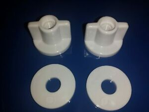 Back Nut Toilet Seat Bottom Fixing Replacement for 6 mm Screw with Washers x 2