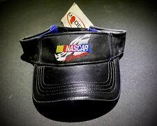 NASCAR LEATHER VISOR HAT CAP VINTAGE RETRO VTG Chase NASCAR Official New Black