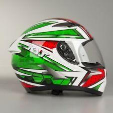 Casco integrale moto KYT Falcon All Star bianco rosso verde helmet Taglia Size L