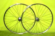 New Pair Miche Primato – Mavic Open Pro – Fixed Road Bike Wheels – All Silver