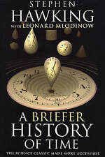 """""""VERY GOOD"""" Hawking, Stephen, Mlodinow, Leonard, A Briefer History of Time, Book"""