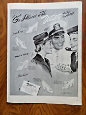 1943 Vitality Shoes Ad Go Places  Sun Out Moon Out Blackout
