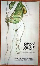 AFFICHE EXPOSITION EGON SCHIELE 1976 Galerie Octave Negru Paris Art Poster