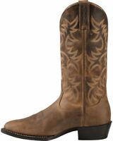 Bottes de cowboy en cuir marron mexicain en cuir brun pour hommes faits à la mai