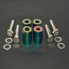 """NEO CHROME 1"""" BILLET HOOD VENT SPACER RISER KITS FOR TURBO/ENGINE/MOTOR SWAP 8MM"""