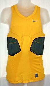 NWT Nike Pro Hyperstrong Targeted Impact Compression Tank Yellow Black