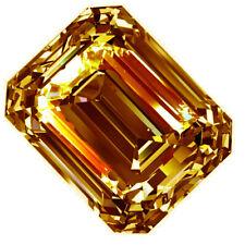 Loose Emerald Moissanite Diamond 4 Ring 2.90 ct Vvs1/8.70Mm Golden Yellow Color