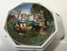 "M.I Hummel Little Companions collector plate Danbury Mint ""Apple Tree Boy & Girl"