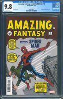 Amazing Fantasy 15 (Marvel) CGC 9.8 White Pages Facsimile Edition Reprint
