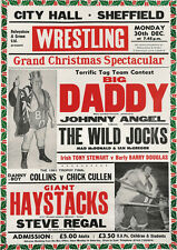 Big Daddy Wrestling Repro POSTER Sheffield