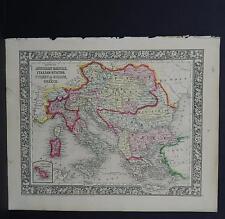 Antique Map, Mitchell, 1865 Italy, Greece, Turkey M8#01