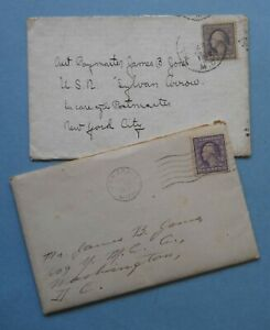 USA – 1918 COVERS - 3¢ DEEP VIOLET - SOME WWI US NAVY INTEREST